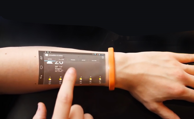cicret bracelet turn your arm into a touch screen device with the cicret 7920