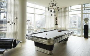 Tribeca Triplex, Amy Lau, chrome pool table