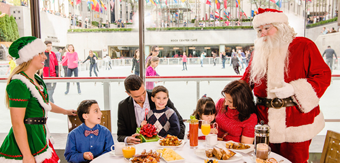santa, rockefeller center, holiday, christmas