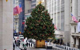 NY Stock Exchange Christmas Tree