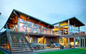 Bates Masi + Architects, prefabricated materials, prefabricated extension, Far Pond Residence, Hurricane-Proof, Waste-Free, Long Island, Southampton