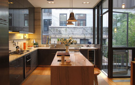 Ben Hansen, state street townhouse, modern town house brooklyn heights, brooklyn heights modern homes, brooklyn interiors, green homes brooklyn,