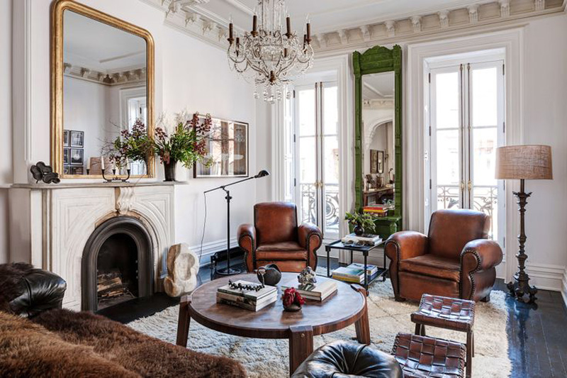Roman And Williams Designed Brooklyn Brownstone Is An Eclectic Mix Of Curiosities 6sqft