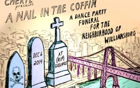 Williamsburg funeral, CHERYL, gentrification
