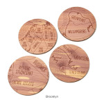 Neighborwoods Map Coasters, Aymie Spitzer