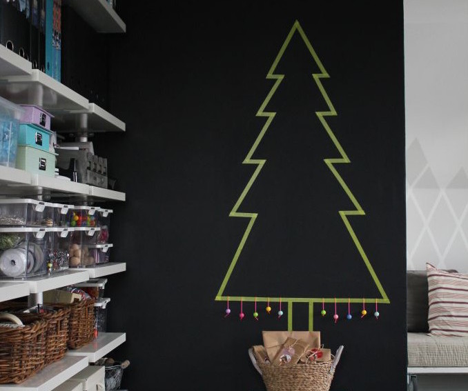 modern trees, holiday, xmas, DIY tree, washi tape, bettina holst