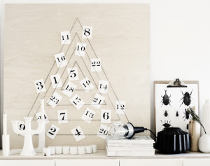 modern trees, holiday, xmas, DIY tree, advent calendar, weekdaycarnival