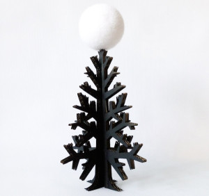 modern trees, holiday, xmas, cardboardchristmas, black cardboard tree