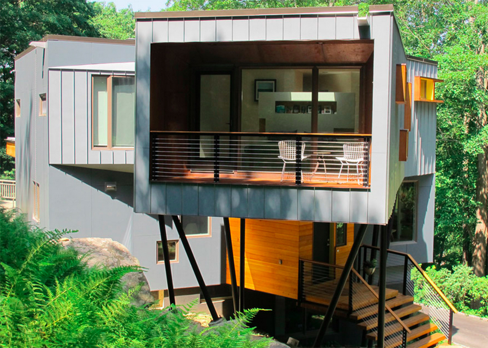 Method Design, Sustainable Renovation, Adition, DPR Residence, Pound Ridge,  On Stilts