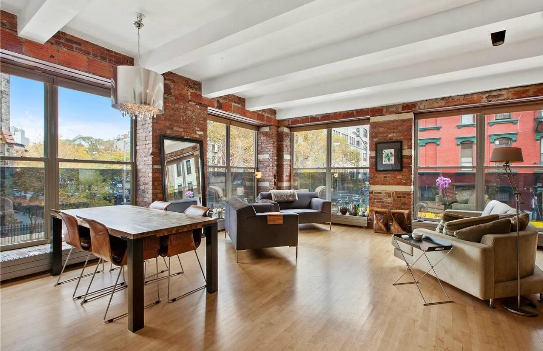 125m lower east side loft offers a beautiful blank slate and a glass bedroom wall - Slate Bedroom 2015