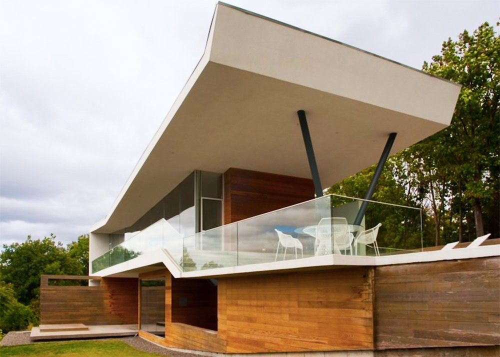 Cedar clad house on mt merino boasts breathtaking views for V shaped house