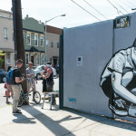 bushwick graffiti street scene