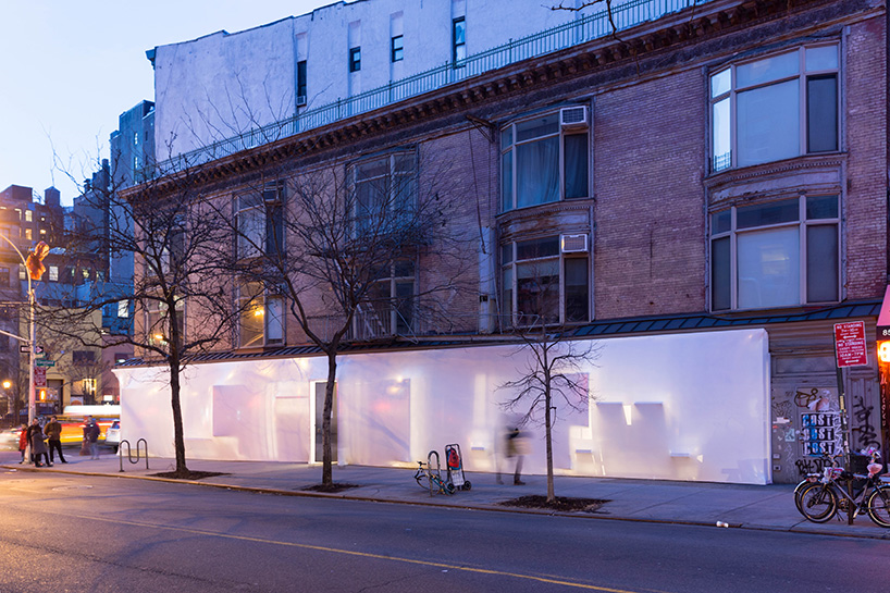 the storefront for art and architecture gets shrink wrapped by so il