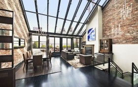 39 Vestry Street, large private balcony, large skylight, duplex penthouse