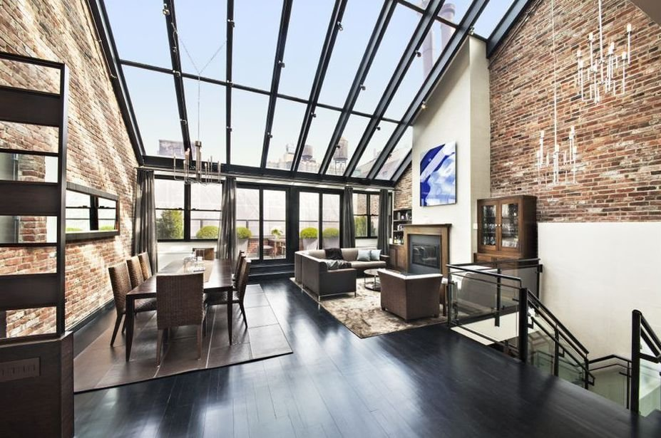 Striking duplex penthouse in north tribeca asks 7 5 for Apartments in tribeca nyc
