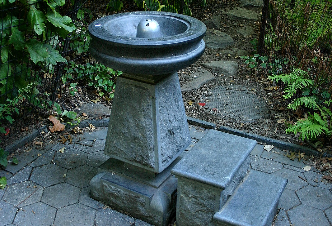 bringing back drinking fountains in nyc run your gadgets on solar energy with a simple outlet adapter