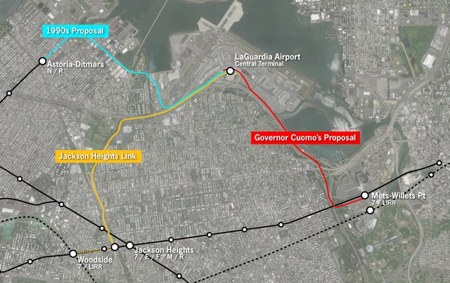 lga air train proposed lines