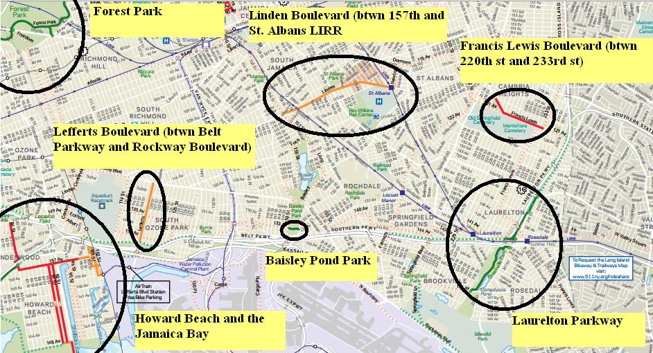 Queens bike map