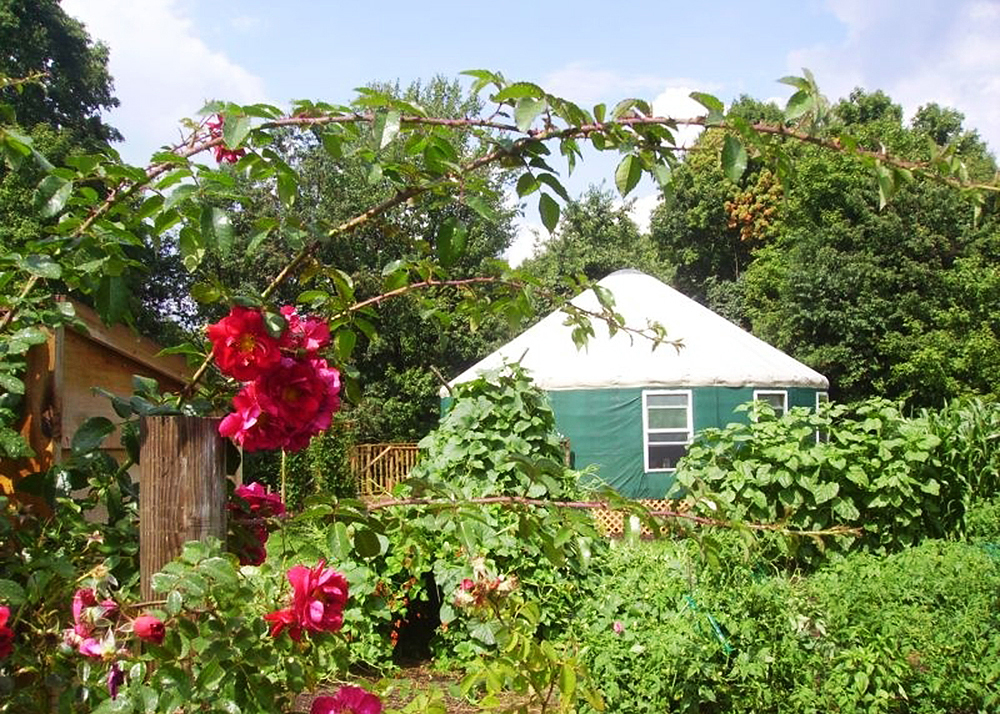 glamping, mongolian-inspired yurt, eco-friendly yurt, Ithaca, Newfield, comfortable retreat, vegetable garden, fruit orchard,