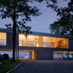 Stuart Parr Design, Ultra Contemporary, Clearhouse, raised home, on stilts, Peconic Bay, Shelter Island, glazed home, glass skin, daylight