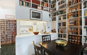 150 Joralemon Street, near Brooklyn Heights Promenade, near Montague Street, built-in bookshelves