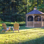 Beaverbrook Cottage, Quonset hut, country-style decoration, wooden retreat, glamping, curved roof house, garden gazebo