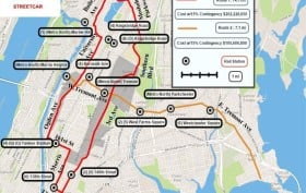 Brooklyn Historical Railway Association's Proposed map of a new Bronx streetcar system