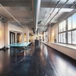 50 West 29th Street, dark-stained red maple floors, 70-feet of windows, no doors,