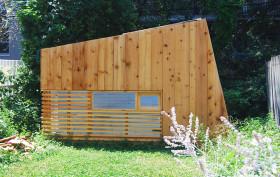 Hunt Architecture, The Brooklyn Garden Studio, wooden shack, cabin at a Brooklyn back garden, wooden retreat, city retreat,