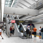 72nd street station, platform level, sas rendering
