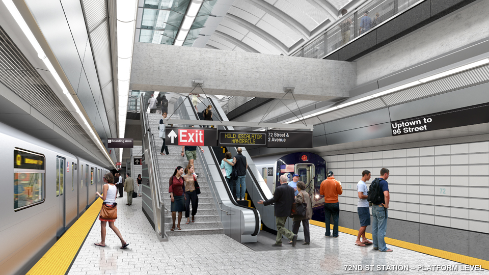 second avenue subway, sas, 72nd street staion platform, subway platform, phase 1