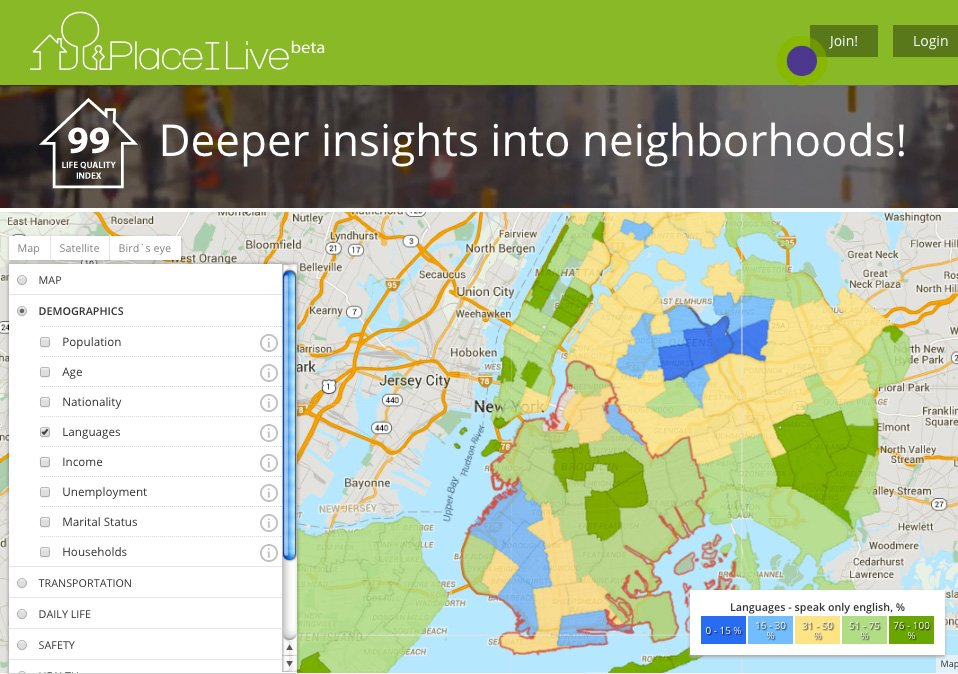 placeilive stats map nyc brooklyn Map This