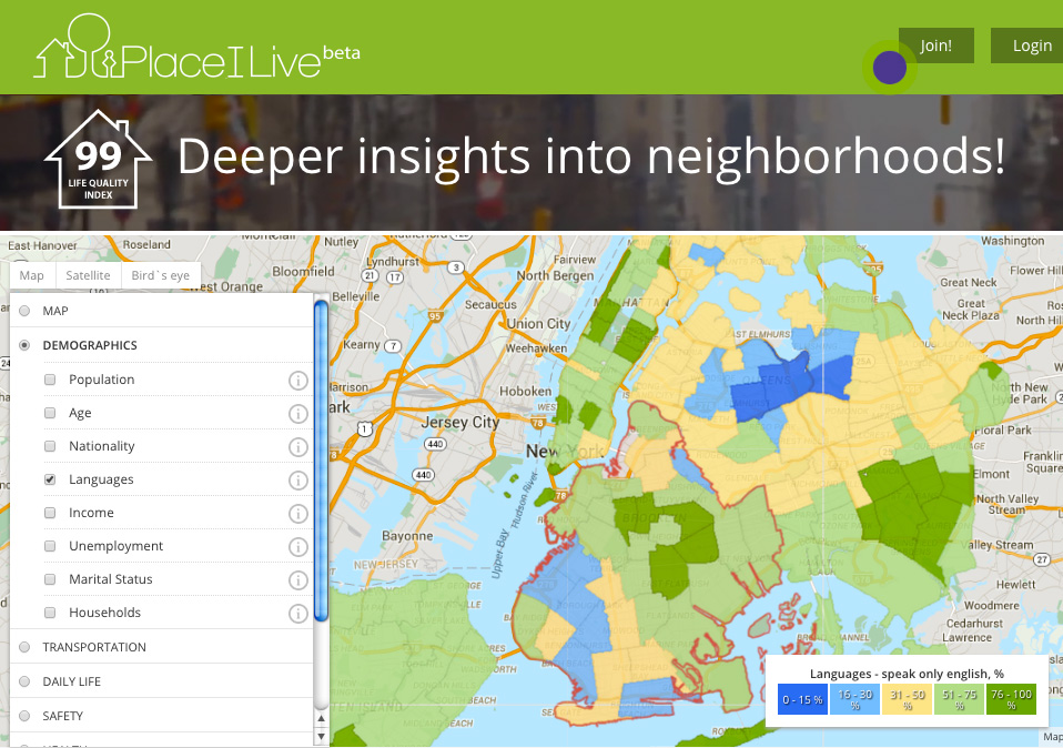 placeilive stats map nyc brooklyn