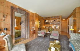 344 West 23rd Street, The Cheyney, 18th century teak doors, custom built-ins