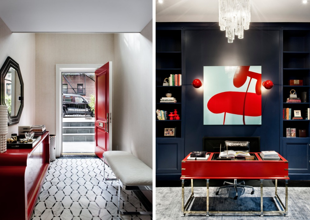 DHD Interiors, Robert Young Architects, bold design in Chelsea townhouse