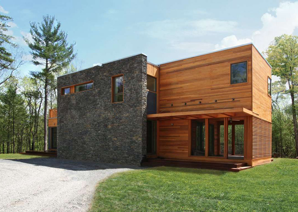 RES4u0027s Modern Prefab Home Beautifully Combines Wood And Stone In The  Catskills