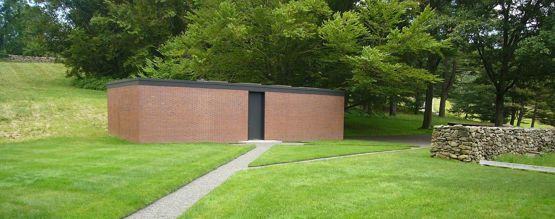 two non glass homes on philip johnson 39 s iconic glass house campus will open to the public 6sqft. Black Bedroom Furniture Sets. Home Design Ideas