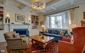 90 Remsen Street, bucolic penthouse, original detail, urban oasis outdoor deck