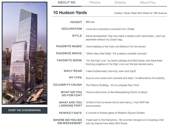 10 Hudson Yards, Building Mingle, Valentine's Day marketing