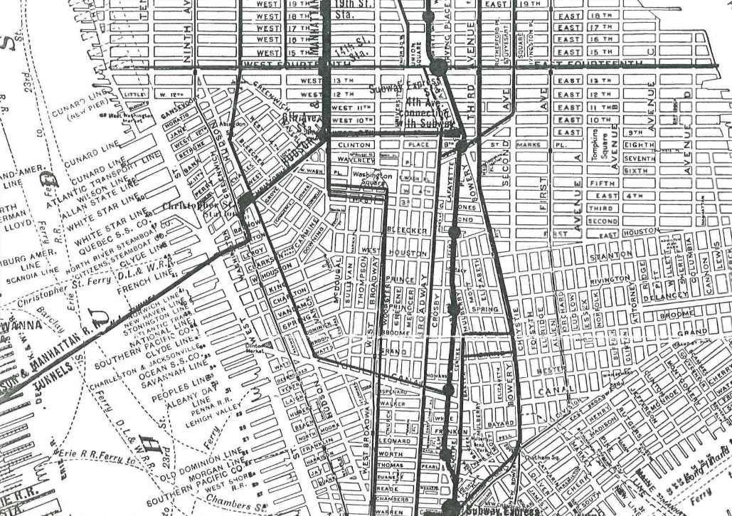 Gansevoort Market, Meatpacking district, Manhattan landfill, historic NYC maps