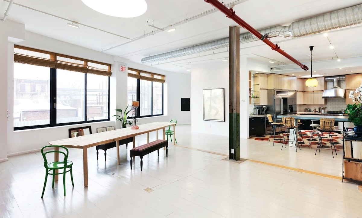 259 Banker Street, indoor/outdoor patio with retractable roof, live/work space