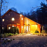 CWB Architects, Bug Acres, cedar wood, glazed porch, Woodstock, bringing nature inside, granite rock garden, woodland retreat,