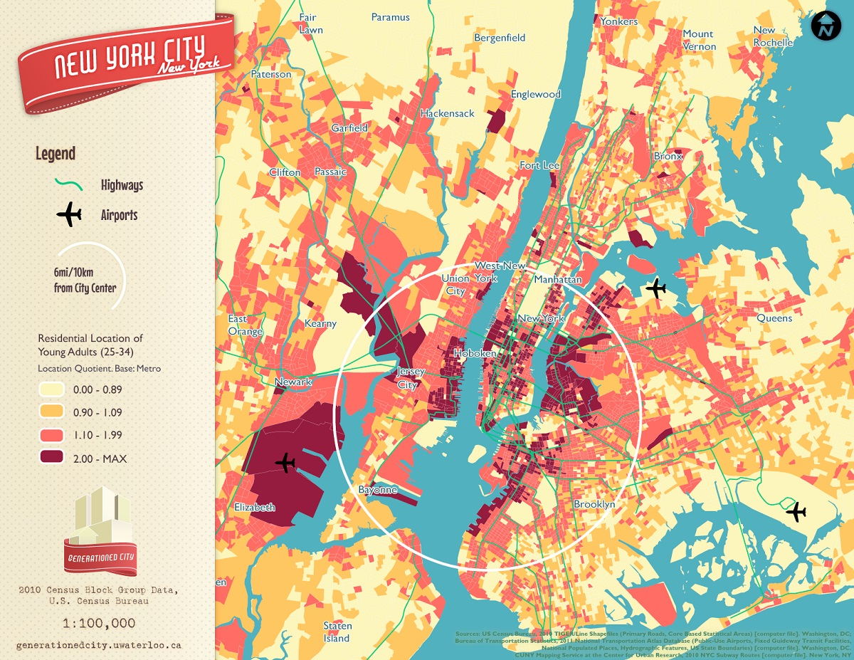 Map This Cool New York City Maps To Teach You Something New Sqft - Us city map