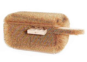 Sebastian Errazuriz, spiky furniture, Magistral Chest, Hardwood Maple, Bamboo, bamboo skewers,