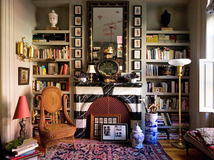 Pleasant Designer Adam Charlap Hymans Eclectic Nyc Apartment Is Like Interior Design Ideas Ghosoteloinfo