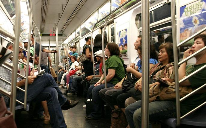 subway riders, NYC subway