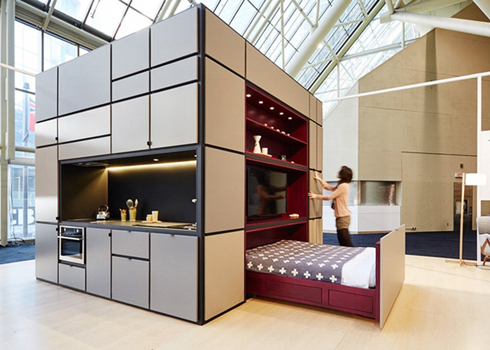 Cubitat sleek plug and play unit shelters a kitchen for Kitchen and bedroom designs