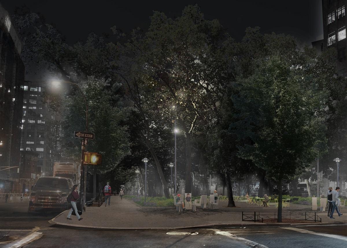 Hudson Square park, Mathews Nielsen Landscape Architects, Hudson Square Connection