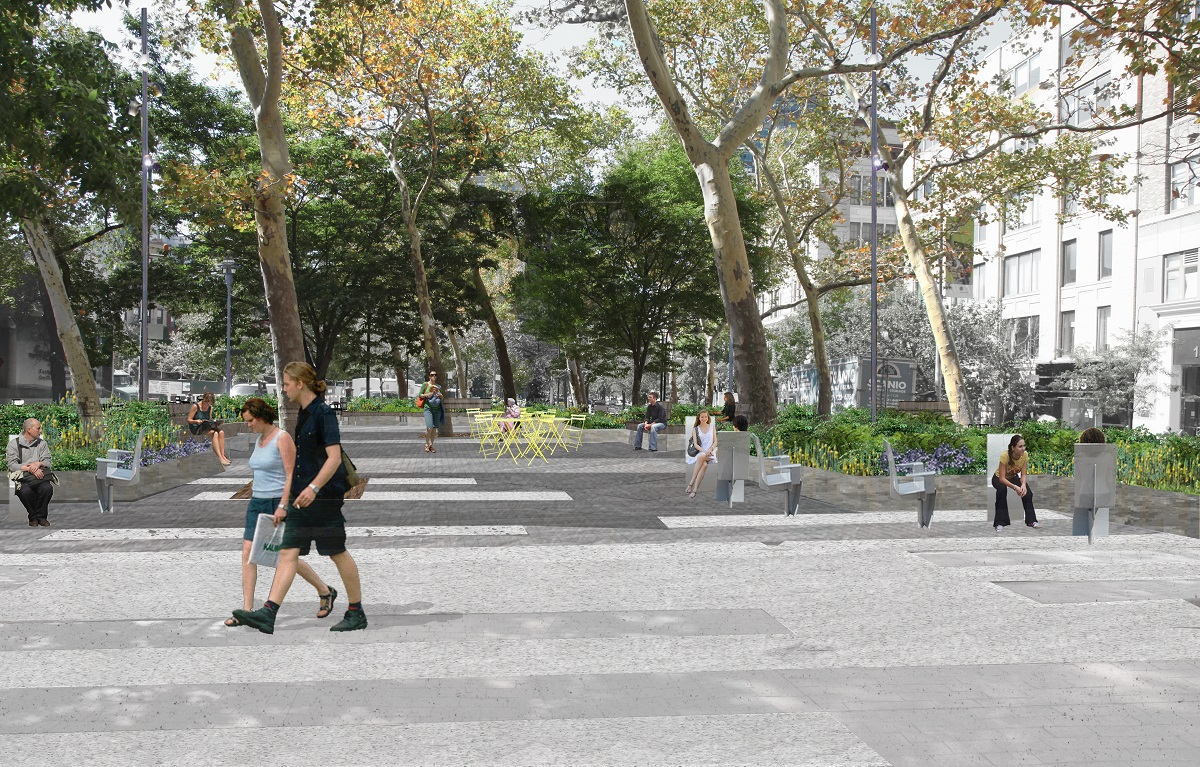 Renderings Revealed For Sustainable Hudson Square Park By Mathews Nielsen Landscape Architects 6sqft