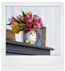 head flower vase
